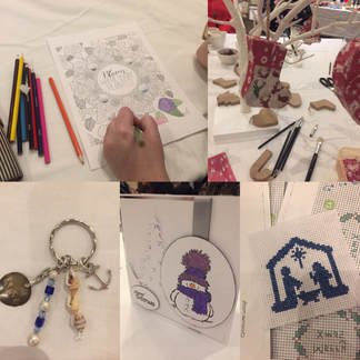 Crafts created by the ladies who attended our craft night.
